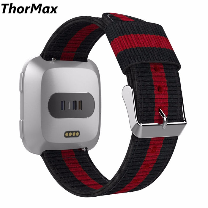 for Fitbit Versa Band Fitness Woven Nylon Adjustable Replacement Band Sport Strap for Fitbit Versa Fitness Wristband ThorMax
