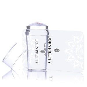 1pc Clear Jelly Stamper with Cap Nail Art Clear Silicone Marshmallow Stamper Nail Stamper &amp-GoAmiroo Store