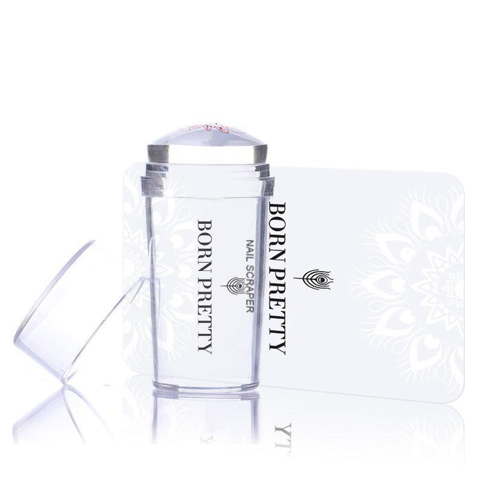 1pc Clear Jelly Stamper with Cap Nail Art Clear Silicone Marshmallow Stamper Nail Stamper &amp