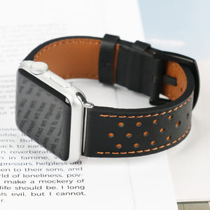 Thormax 100% Genuine Leather For Apple Watch Band Strap For Iwatch Series 3 2 1 Black Brown Spots 42Mm 38Mm - Goamiroo Store