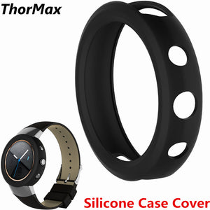 ThorMax Soft Silicone Case Cover Scratch-resistant Flexible Case Slim Lightweight Protective Bumper Cover for Asus Zenwatch 3