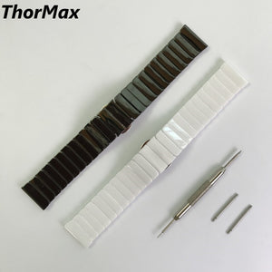 Thormax Gear S3 Frontier / Classic Ceramic Watch Band 22Mm Stainless Steel Butterfly Replacement Bracelet Strap For Samsung - Goamiroo Store