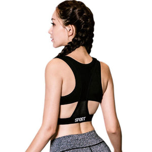Women Shockproof Sports Bras Push Up Padded Fitness Vest Yoga Tops - Goamiroo Store