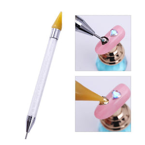 Dual-Ended Nail Dotting Pen Crystal Beads Handle Rhinestone Studs Picker Wax Pencil Manicure - Goamiroo Store