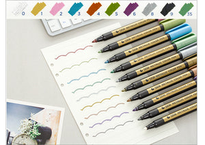 Sta 10 Color Set Metallic Art Markers Diy Scrapbooking Crafts Watery Markers - Goamiroo Store