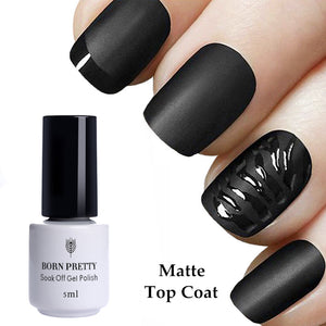 Matte Uv Top Coat Nail Gel Polish 10Ml No Wipe Soak Off Manicure Nail Art Gel Varnish - Goamiroo Store