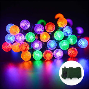 Colorful Bright Battery Operated Outdoor Globe Led String Lights 8 Mode - Goamiroo Store
