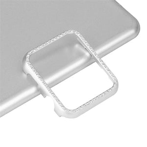 Thormax Metal Frame Watch Protect Case Shinny Bling Diamond-Embedded Cover For Apple Watch Series 1/2/3 Watch Accessories - Goamiroo Store