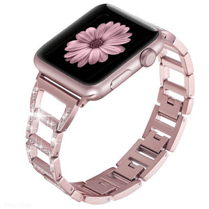 Diamond watch band for iWatch Series 4 3 2 1 Bracelet Stainless Steel Strap For Apple Watch Band 38mm 42mm 40mm 44mm women