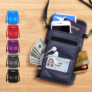 Travel Neck Pouch with RFID Blocking-GoAmiroo Store