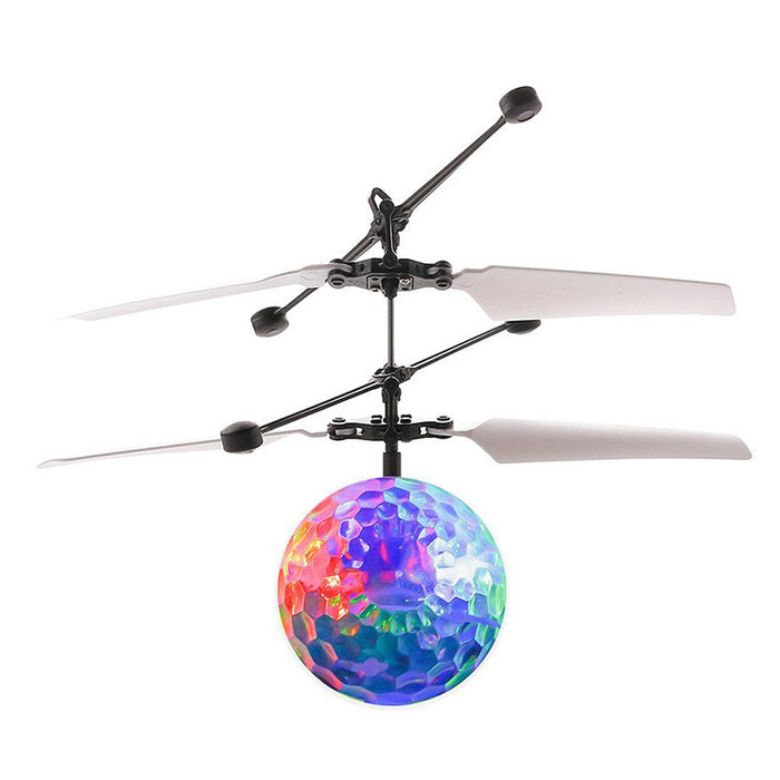 Whirly Ball Epoch Air Crystal Flashing LED Light Flying Induction Disco Ball