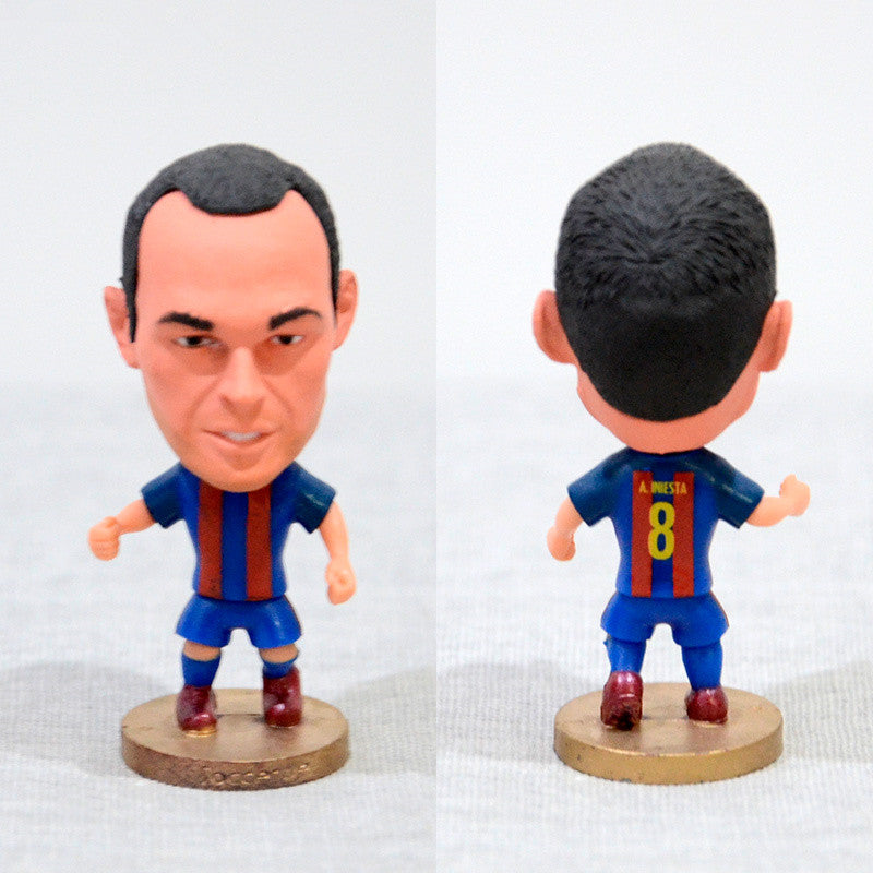 Football Player A. Iniesta #8 Barsa 2.5inch Action Figure-GoAmiroo Store