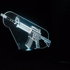 Cool Machine Gun shape 3D LED Lamp-GoAmiroo Store