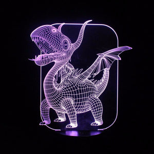 Magical Pterosaurs 3D Led Lamp - Goamiroo Store