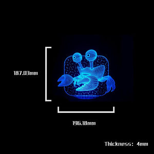 Crab Shape 3D Led Lamp - Goamiroo Store
