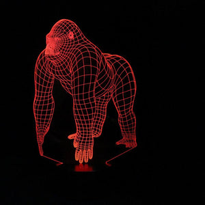 King Kong Shape 3D Led Lamp - Goamiroo Store