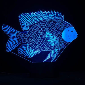 Kirigami-Fish Shape 3D Led Lamp - Goamiroo Store