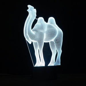 Camel Shape 3D Led Lamp - Goamiroo Store