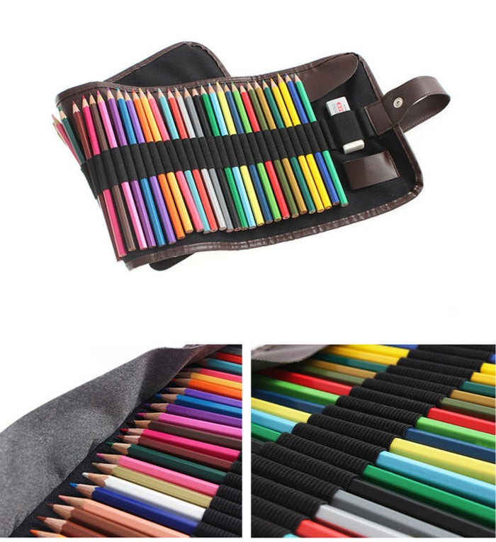 3Color 48 Holes Canvas Roll Pouch