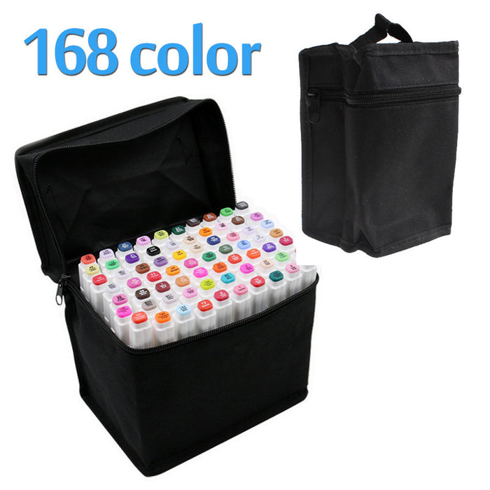 Touchfive 168Colors Art Marker Set Oily Alcoholic Dual Headed