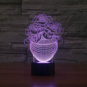 Beautiful Flower 3D Led Lamp - Goamiroo Store