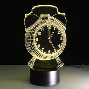 Alarm Clock 3D Led Lamp - Goamiroo Store