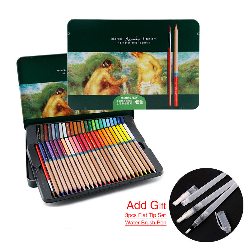 Marco 24/36/48/72pcs Colored Pencils Profissional Watercolor Pencils Painting-GoAmiroo Store