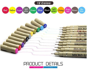 005 Rotuladores 12 Colores Sketch Markers-GoAmiroo Store