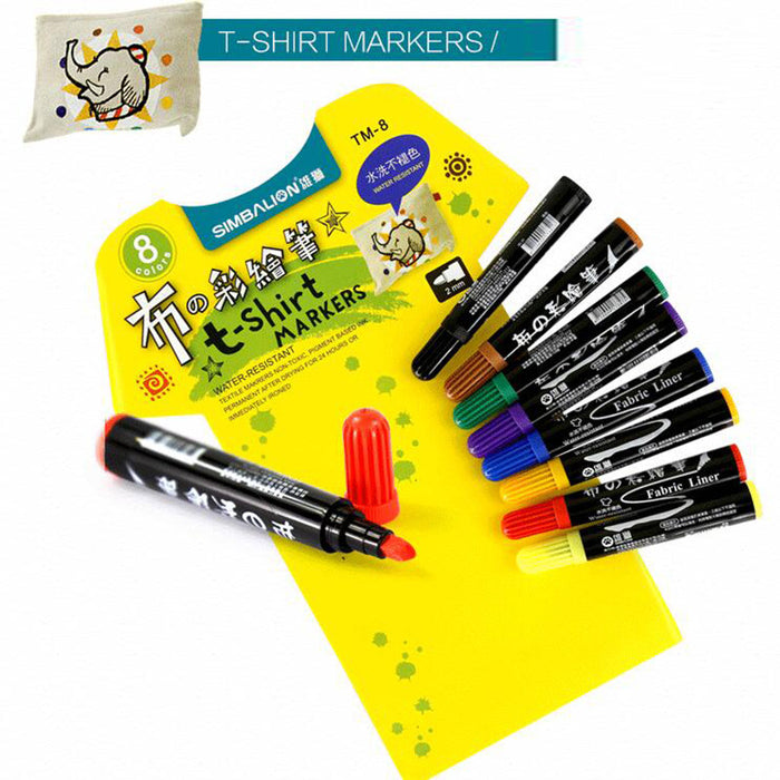 6/8 colors Fabric and T-shirt Textile Mark diy Pen