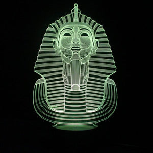 Mysterious Pharaoh Shape 3D Led Lamp - Goamiroo Store