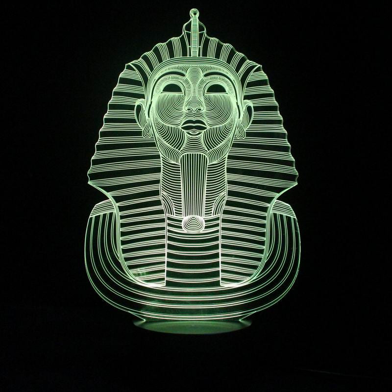 Mysterious Pharaoh Shape 3D LED Lamp-GoAmiroo Store