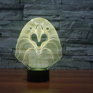 Eagle Shape 3D Led Lamp - Goamiroo Store