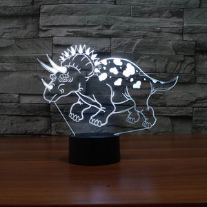 Triceratops Shape 3D Led Lamp - Goamiroo Store