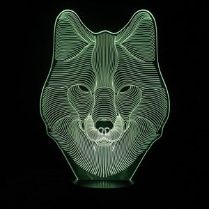 Fox Shape 3D Led Lamp - Goamiroo Store