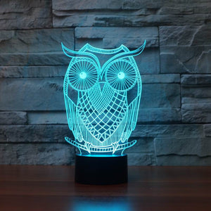 Owl Shape 3D Led Lamp - Goamiroo Store