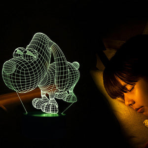 Cute Dog Shape 3D Led Lamp - Goamiroo Store
