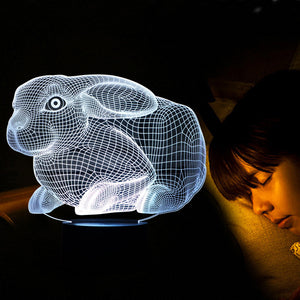 Rabbit 3D Led Lamp - Goamiroo Store