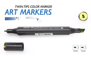 Sta 12Colors Oily Alcoholic Dual Headed Sketch Marker - Goamiroo Store