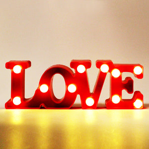 3D LOVE Marquee Letter LED Night Light-GoAmiroo Store