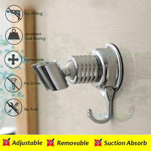 Adjustable Elegant Sucker Shower Head Stand Bracket Holder-GoAmiroo Store
