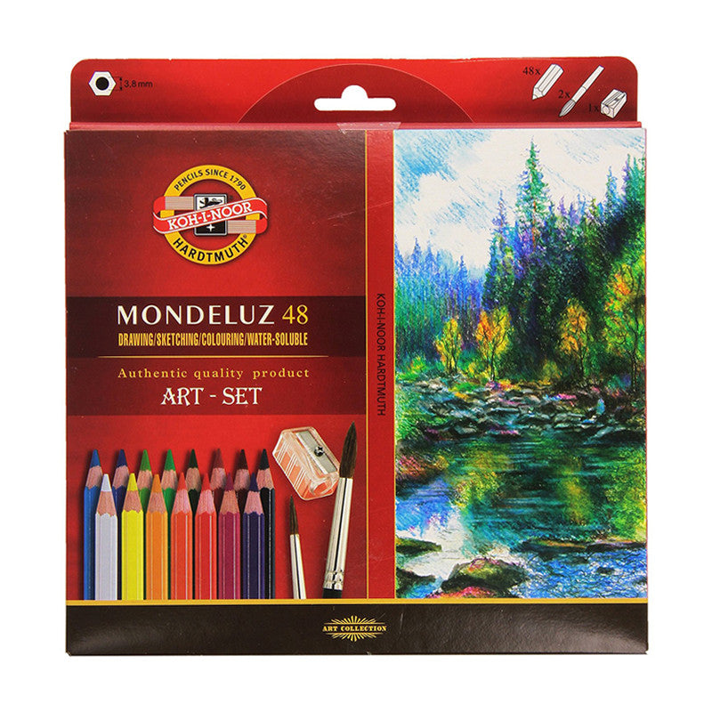 Koh-i-noor Mondeluz Aquarell Drawing Set. 24 36 48 72 Colored Pencils WaterColor Pencils-GoAmiroo Store