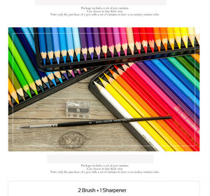 Koh-I-Noor Mondeluz Aquarell Drawing Set. 24 36 48 72 Colored Pencils Watercolor Pencils - Goamiroo Store