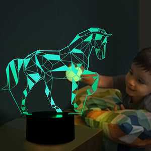 Interesting Horse 3D Colorful Led Lamp - Goamiroo Store