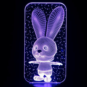 Long Ear Rabbits 3D Led Lamp - Goamiroo Store