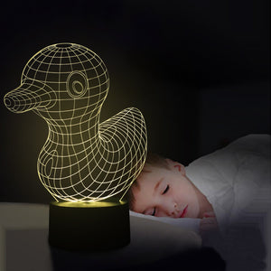Little Duck 3D Led Lamp - Goamiroo Store