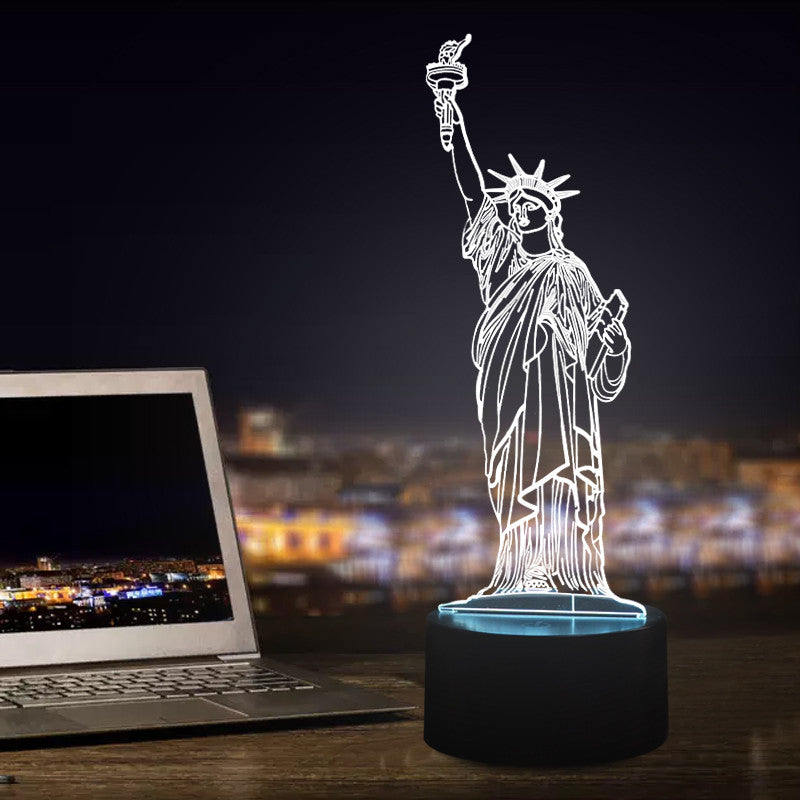 Statue of Liberty shape 3D LED Lamp-GoAmiroo Store