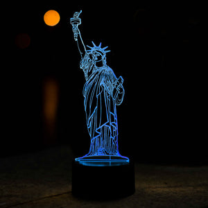Statue Of Liberty Shape 3D Led Lamp - Goamiroo Store