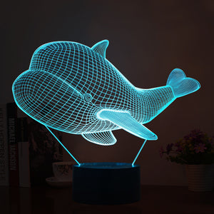 Cute Whale Shape 3D Led Lamp - Goamiroo Store