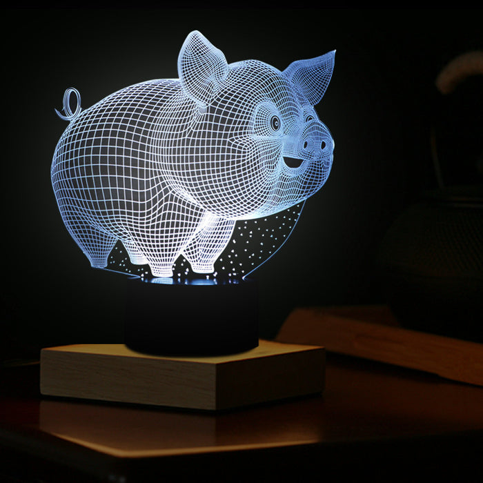 Little Pig 3D LED Lamp