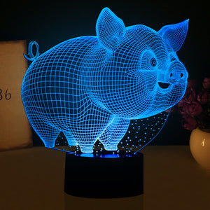 Little Pig 3D Led Lamp - Goamiroo Store